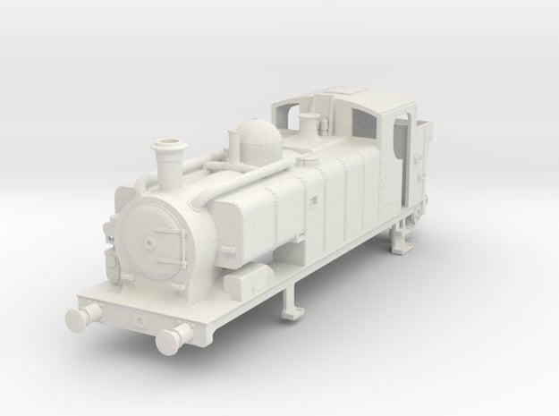 Body for 00 gauge GWR 97xx Condensing Pannier Tank in White Natural Versatile Plastic