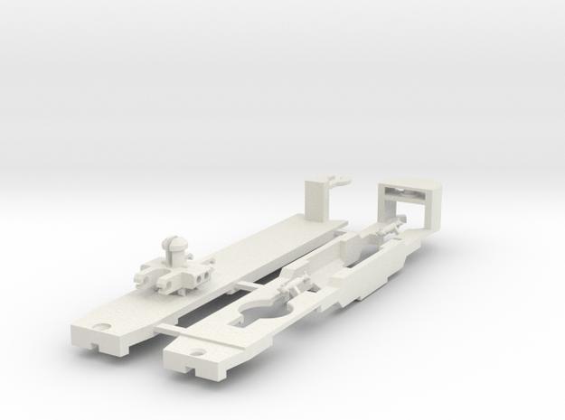 Sneltram Utrecht chassis, N-gauge in White Natural Versatile Plastic