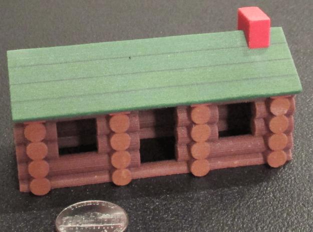"Miniature Log Cabin (3-1/2"") in Full Color Sandstone"