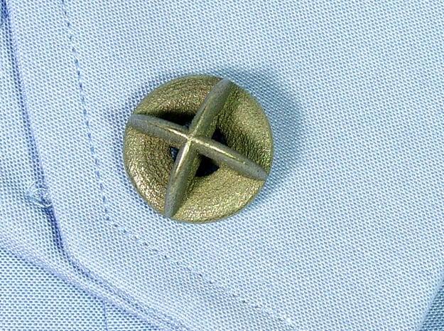 Orbit Cufflinks in Polished Bronzed Silver Steel