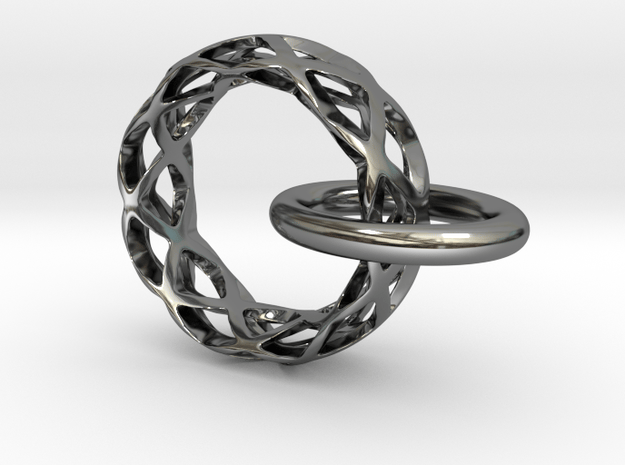 Loop pendant in Fine Detail Polished Silver