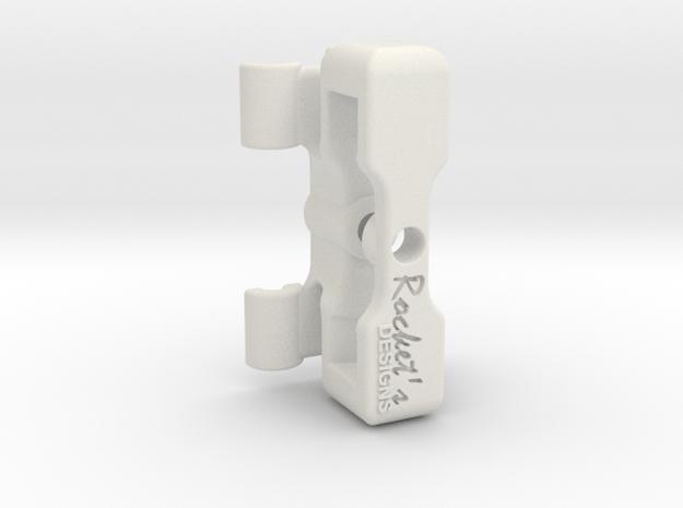EDrum Rocket Trigger System (Bottom Clamp) in White Natural Versatile Plastic