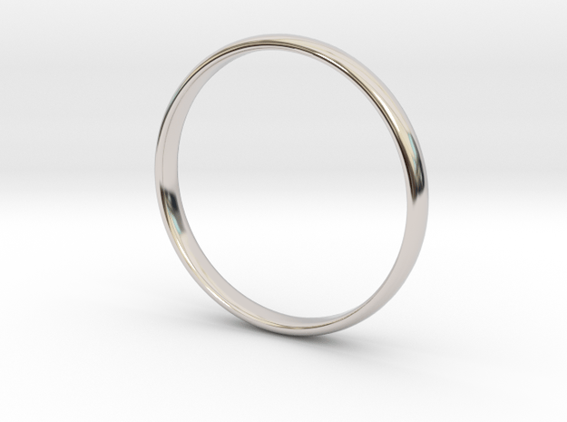 Simple wedding/engagement band - size 6 US in Rhodium Plated Brass