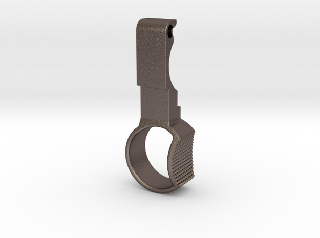 KJW KC-02 Charging Handle H&K Style in Polished Bronzed Silver Steel