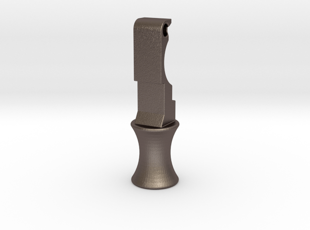 KJW KC-02 Charging Handle Knob Style 6 in Polished Bronzed Silver Steel