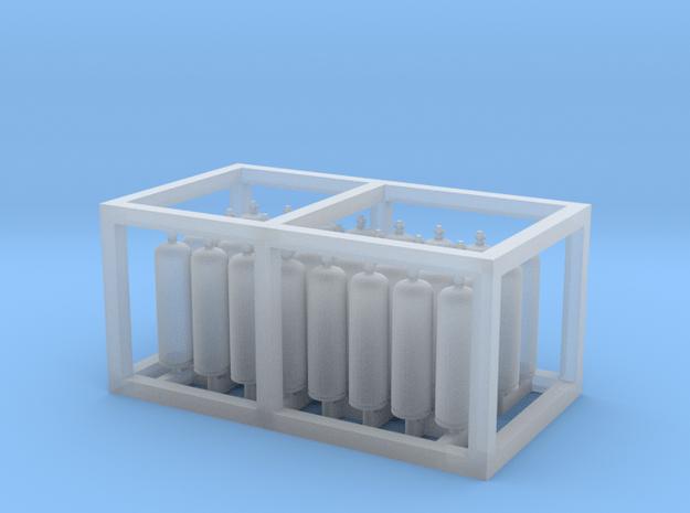 LPG Tanks 30kg 16x2, N-scale in Smooth Fine Detail Plastic