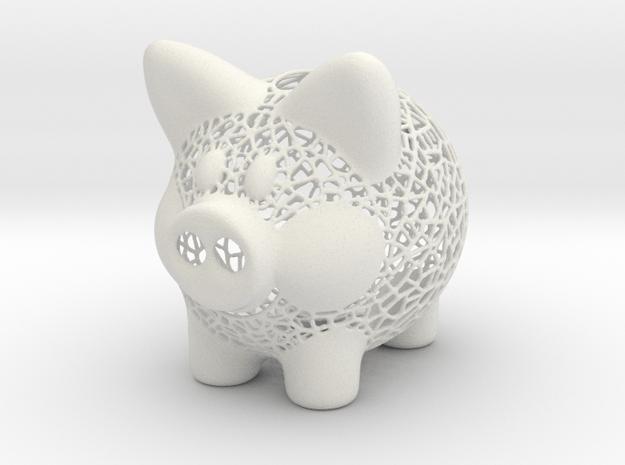 Peak A Boo Piggy Bank 2 Inch Tall in White Natural Versatile Plastic