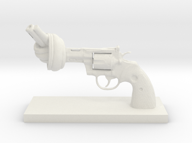 No-violence gun - Antiques in White Natural Versatile Plastic