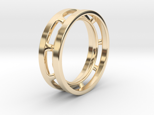 Future Trends collection - size 6 US in 14k Gold Plated Brass