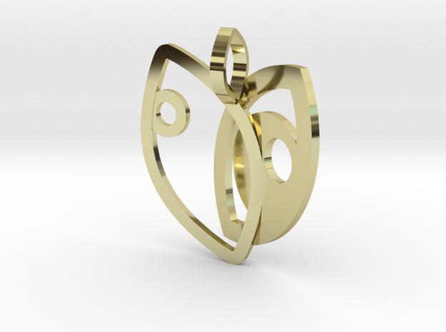 Eyes hugged in 18k Gold Plated Brass