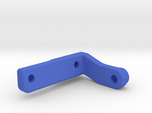 Team Associated 3-Gear Transmission Fan Mount in Blue Processed Versatile Plastic