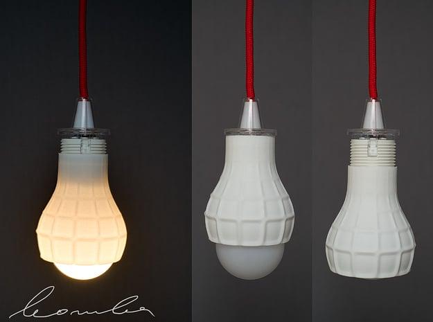 Bomba lampshade in White Processed Versatile Plastic