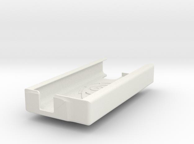 Dexcom Case w/Garmin 1/4 Mount SLIM in White Natural Versatile Plastic