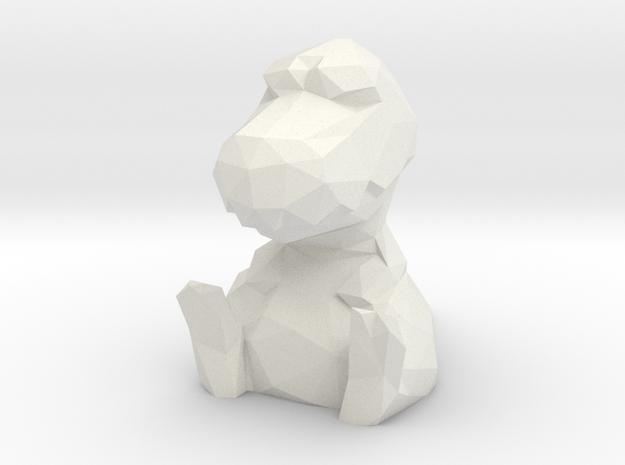 Dino in White Natural Versatile Plastic