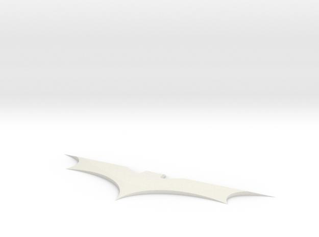 Batman Batarang in White Natural Versatile Plastic