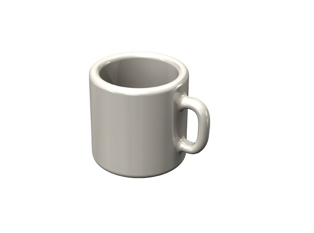 Dollhouse coffee mug in White Natural Versatile Plastic