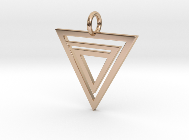 Delta Pendant in 14k Rose Gold Plated Brass