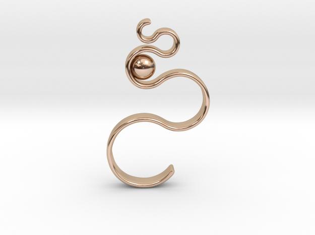 Swirl Pendant in 14k Rose Gold Plated Brass