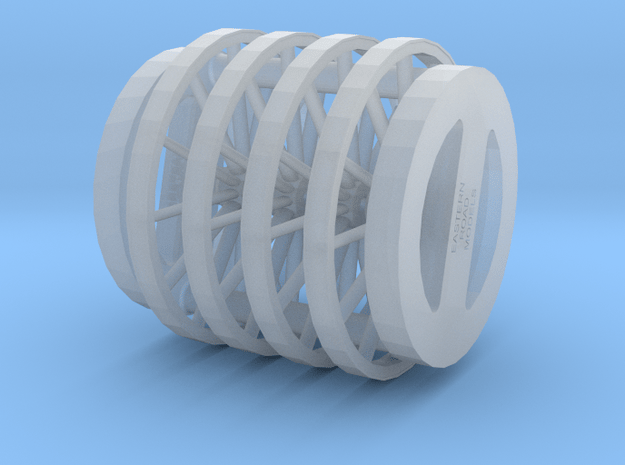 54in 12 Spoke S Scale X4 in Smooth Fine Detail Plastic
