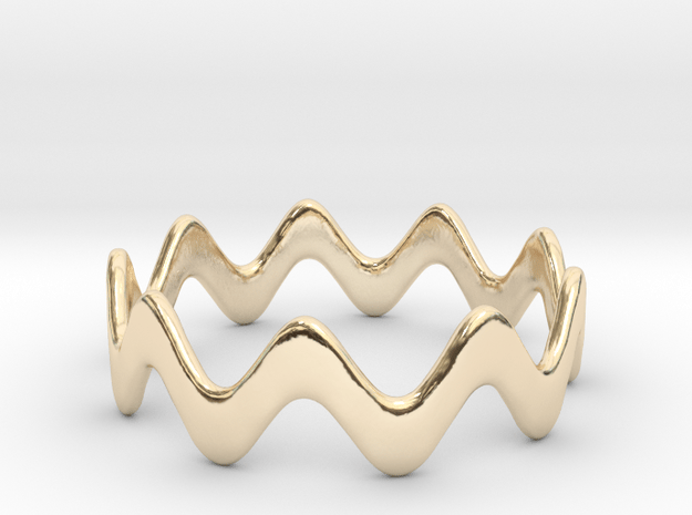 Yumi collection - Size 6 US in 14k Gold Plated Brass
