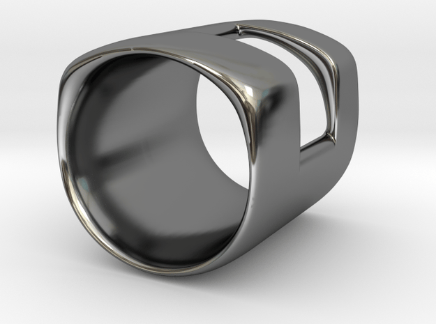 Back to basic collection - One Way Out (US size 6) in Fine Detail Polished Silver