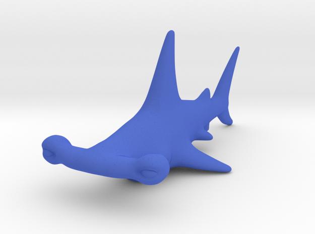 Cartoon Hammerhead shark in Blue Processed Versatile Plastic