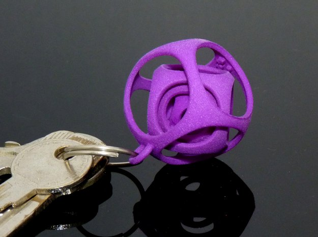 Gyro the Cube (XS) (Ring + Smooth) in Purple Processed Versatile Plastic