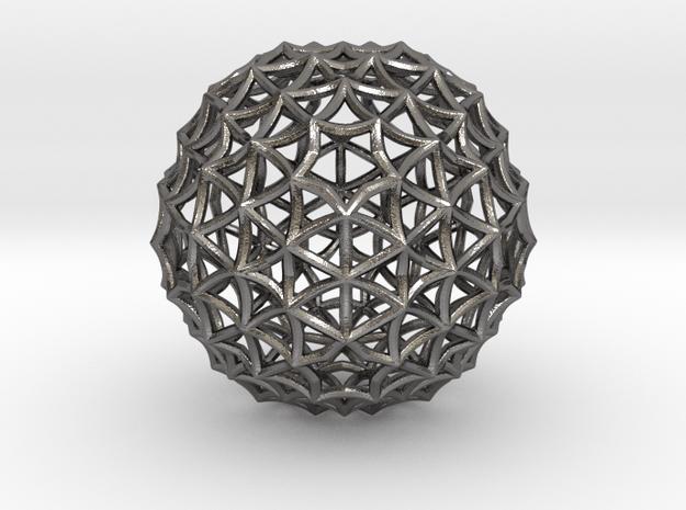Fractal Geom Sphere in Polished Nickel Steel