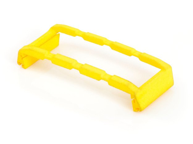 Finger Clip for Shutter Grip, iPhone 5 / 5S in Yellow Processed Versatile Plastic