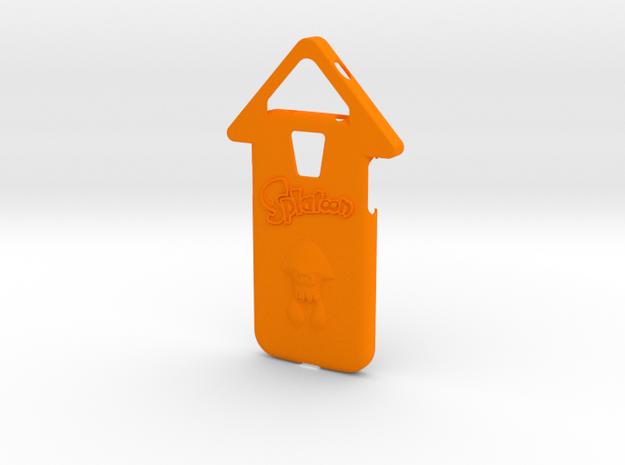 Galaxy S4 Splatoon Squid Case (speaker to front) in Orange Processed Versatile Plastic