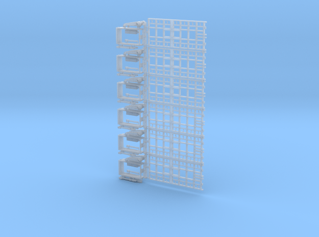 72-H0045: Jet Blast Deflector (6 panels), updated  in Smooth Fine Detail Plastic