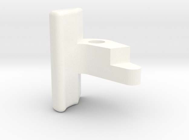 """3/4"""" Scale Coupler Knuckle in White Processed Versatile Plastic"""
