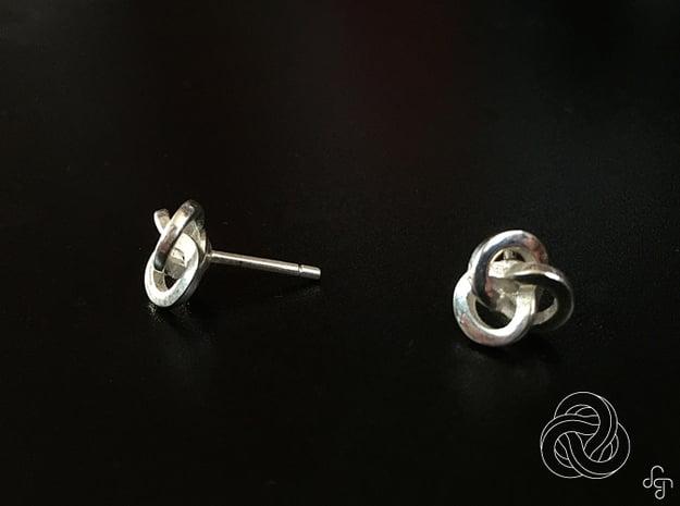 Trefoil Earrings in Polished Silver