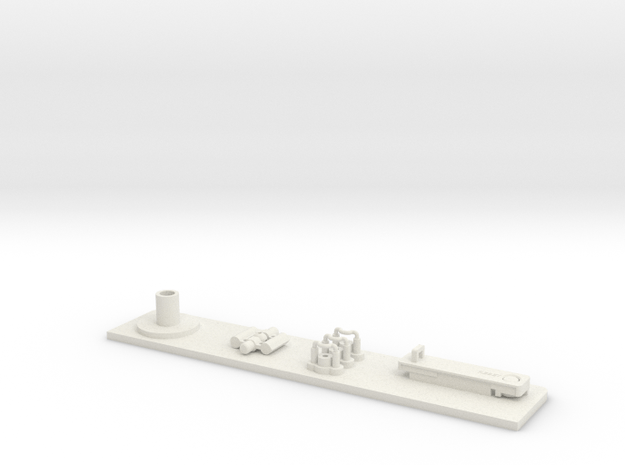 ST Automatic Blaster Aluminum Plate and Parts in White Natural Versatile Plastic
