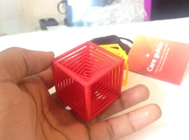 The Cube in Red Processed Versatile Plastic