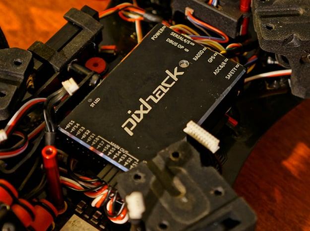 CUAV Pixhack FC Mounting Platform in Black Natural Versatile Plastic