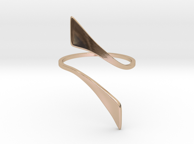 Back to basic collection -  Size 5 US in 14k Rose Gold Plated Brass
