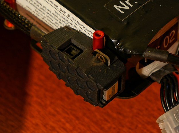 CUAV Pixhack Buzzer/Switch Case and Holder in Black Natural Versatile Plastic