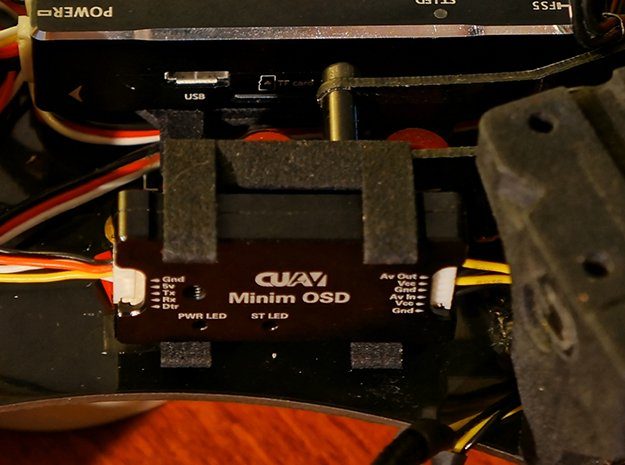 CUAV MinimOSD Holder in Black Natural Versatile Plastic