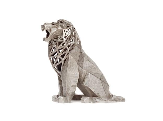 Roaring Lion in Polished Nickel Steel