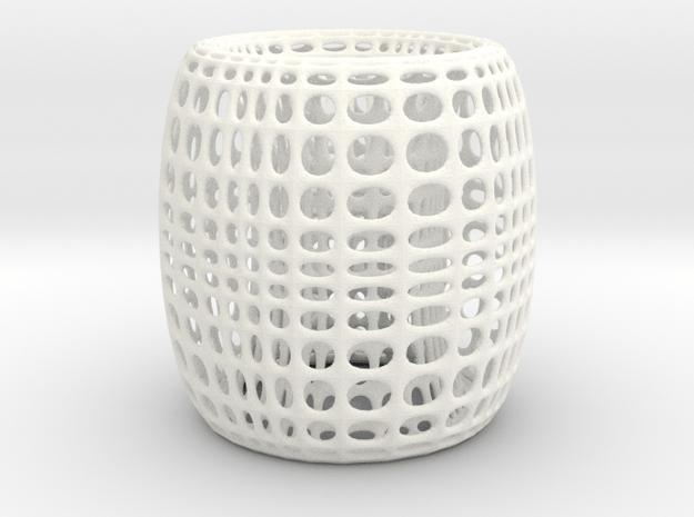 SurfTorus Desk Lamp Cover in White Processed Versatile Plastic