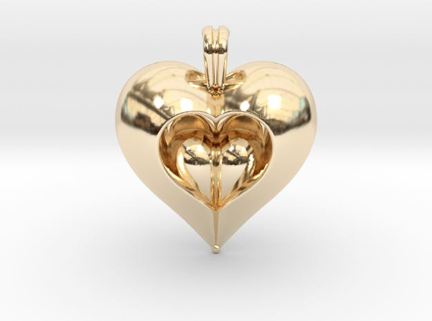 Love in 14k Gold Plated Brass