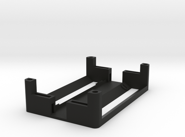 1550P 2x18650 Battery Sled in Black Natural Versatile Plastic