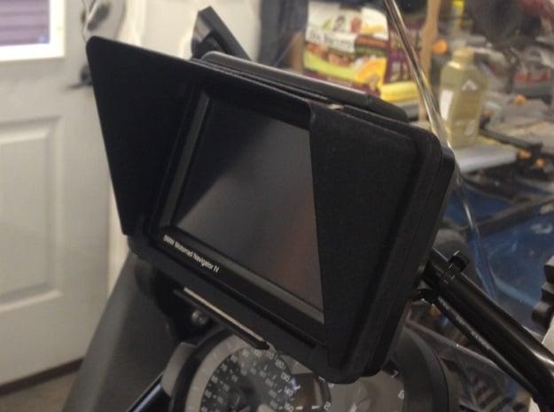 Sunshade for BMW Navigator 4 / Zumo 660 in Black Natural Versatile Plastic