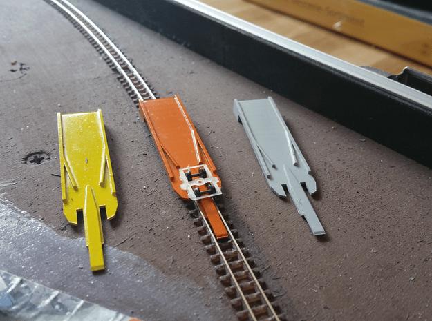Aufgleiser  für Spur Ne   1:160   4,5mm in Smooth Fine Detail Plastic