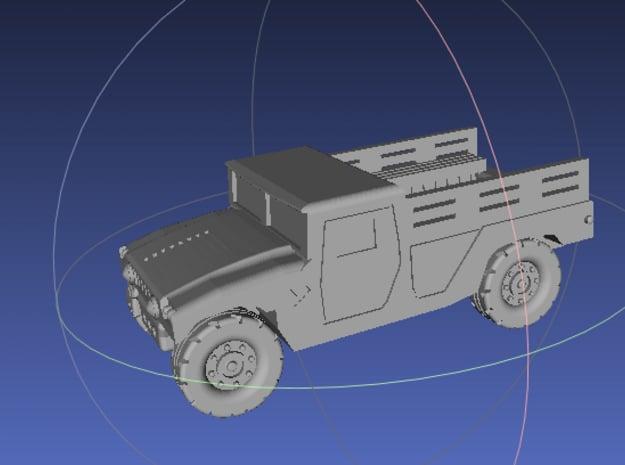 1/144 Humvee Cargo (Single Pack) in White Processed Versatile Plastic