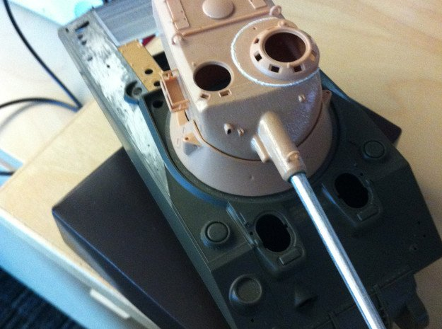 AMX Sherman TurretRing Adapter in Smooth Fine Detail Plastic