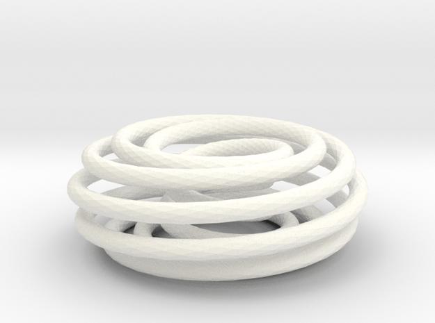 (2, 9) Spiral Torus in White Processed Versatile Plastic