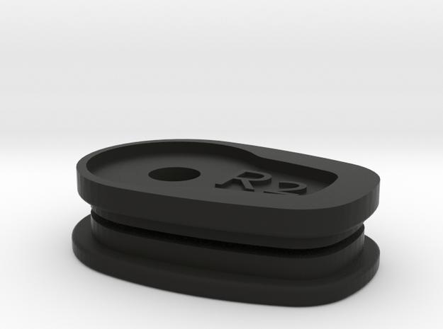 01-05 Yamaha FZ1 Signal Block off Plates - right in Black Natural Versatile Plastic