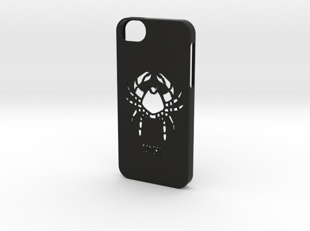 Iphone 5/5s cancer case in Black Natural Versatile Plastic